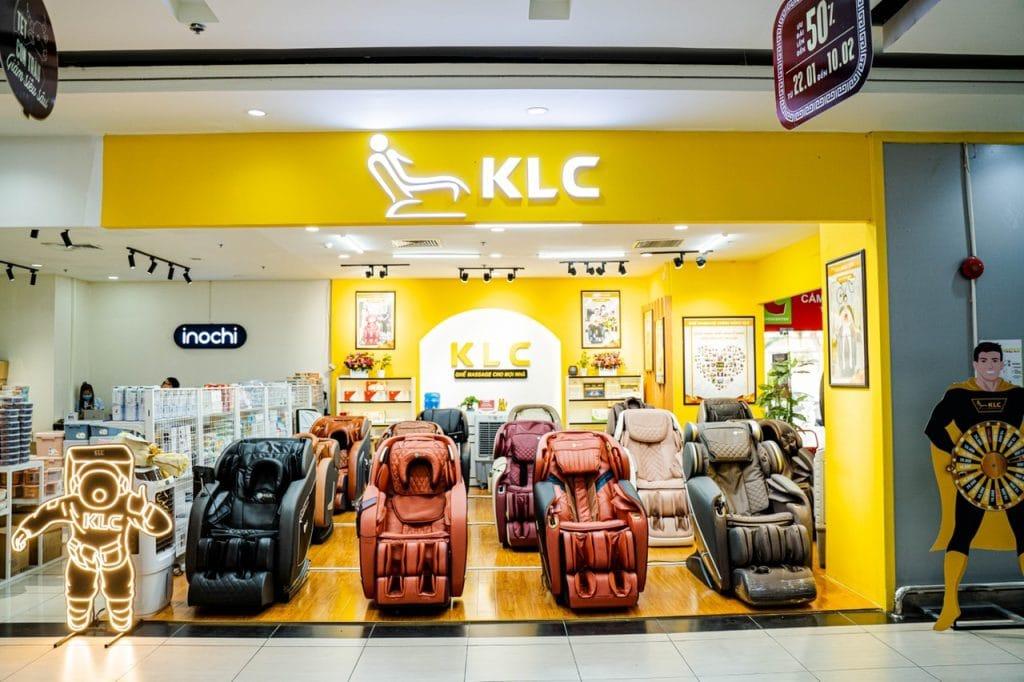 Showroom ghế massage KLC Âu Cơ