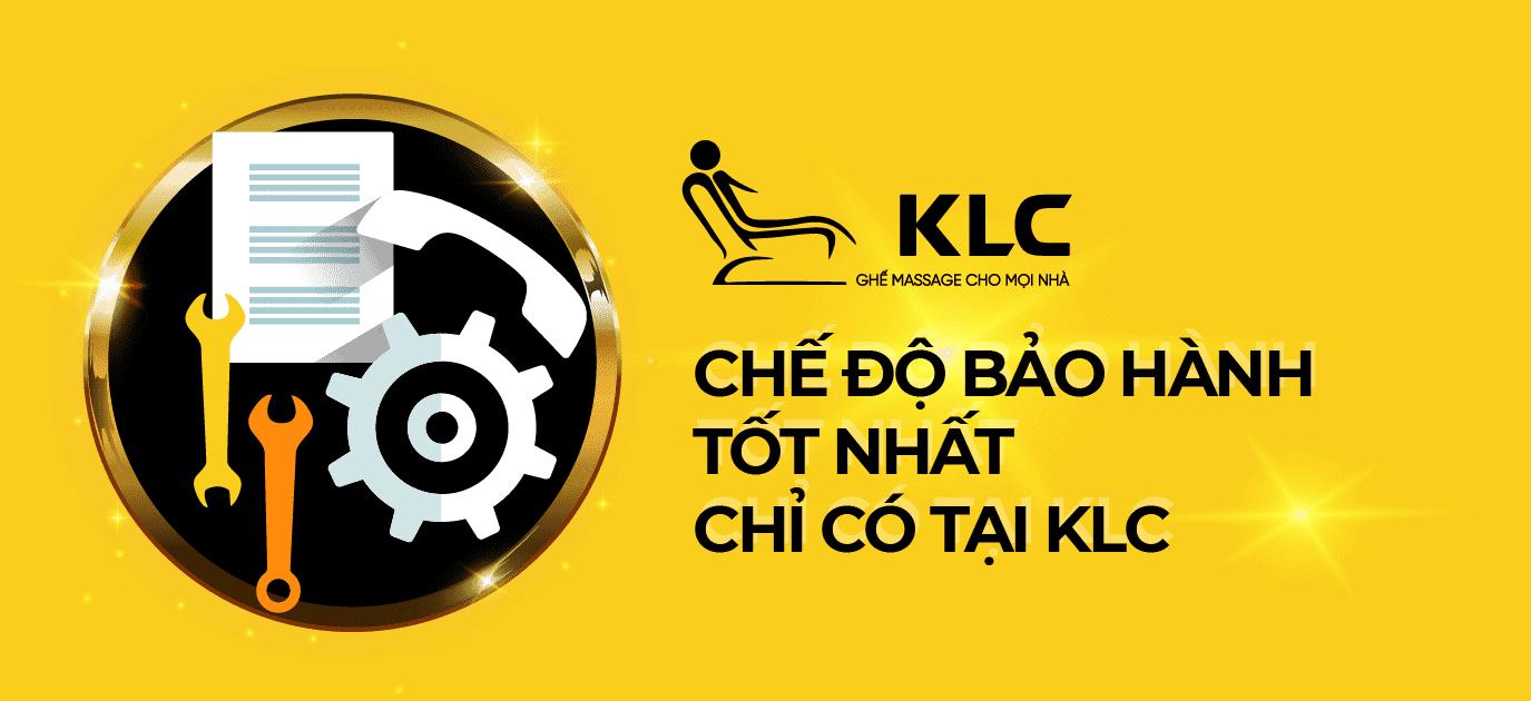 Chế độ bảo hành tốt nhất chỉ có tại KLC