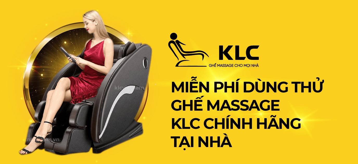 Miễn phí dùng thử ghế massage chính hãng KLC tại nhà