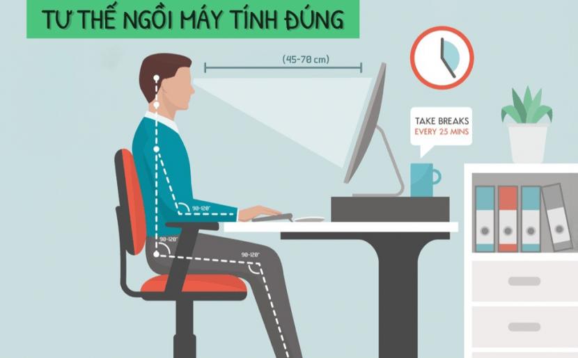 Tư thế ngồi làm việc như thế nào là tốt cho sức khỏe cho dân văn phòng?