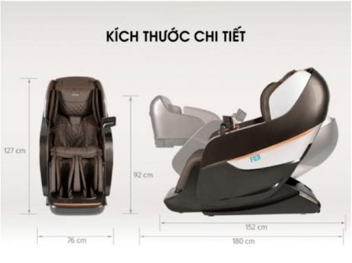 Tìm hiểu về kích thước tiêu chuẩn của ghế massage