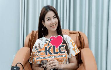 Cùng diễn viên - ca sĩ Kha Ly chăm sóc sức khỏe gia đình toàn diện với ghế massage KLC