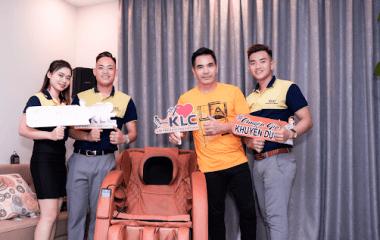 Diễn viên Trung Dũng với những trải nghiệm ghế massage KLC
