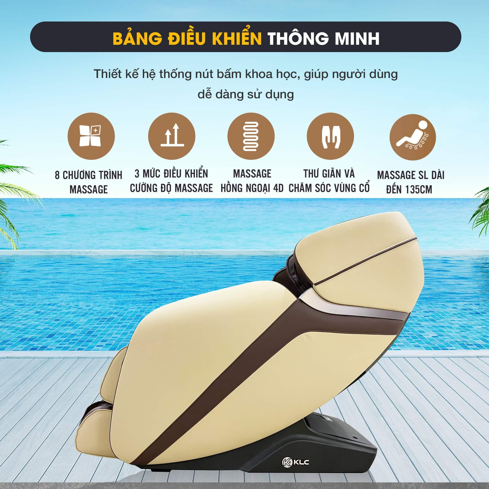 Ghế massage KLC 6688 màu nâu