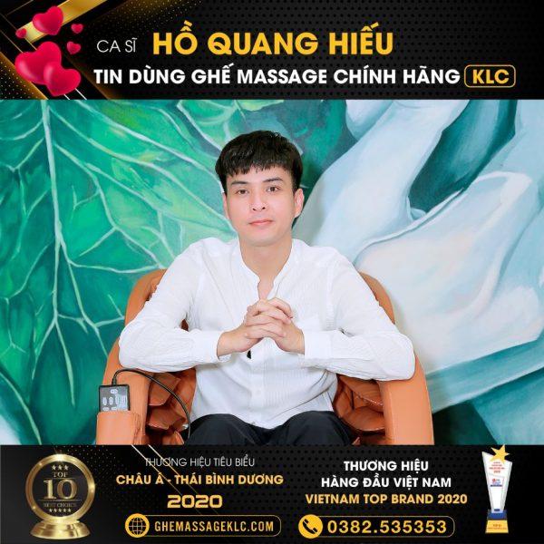 ghe massage klc ky 6868 ca si ho quang hieu Ghế massage KLC