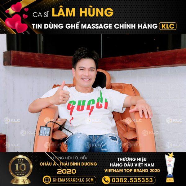 ghe massage klc ky 6868 ca si lam hung Ghế massage KLC