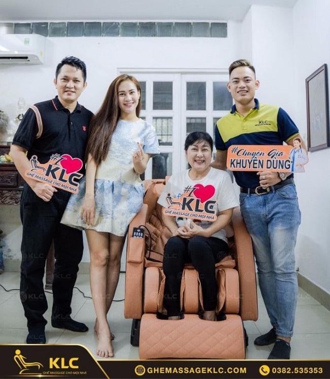 Năng lượng tích cực - thỏa đam mê của nghệ sĩ Thanh Thủy từ ghế massage KLC