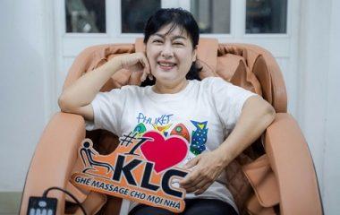 Năng lượng tích cực – thỏa đam mê của nghệ sĩ Thanh Thủy từ ghế massage KLC