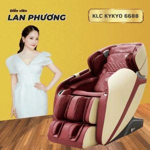 Ghế massage KLC KYKYO 6688 màu đỏ phiên bản tiếng việt Lan Phương