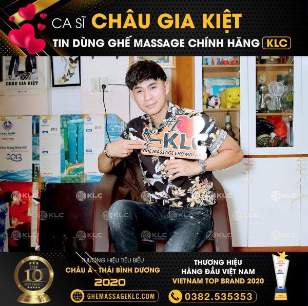 Nghệ sỹ tin dùng ghế massage KLC 369 châu gia kiệt
