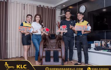 Gia đình MC Thanh Phương – ca sĩ Huy Luân tin dùng ghế massage KLC khi được mẹ Kim Xuân (NSND) giới thiệu