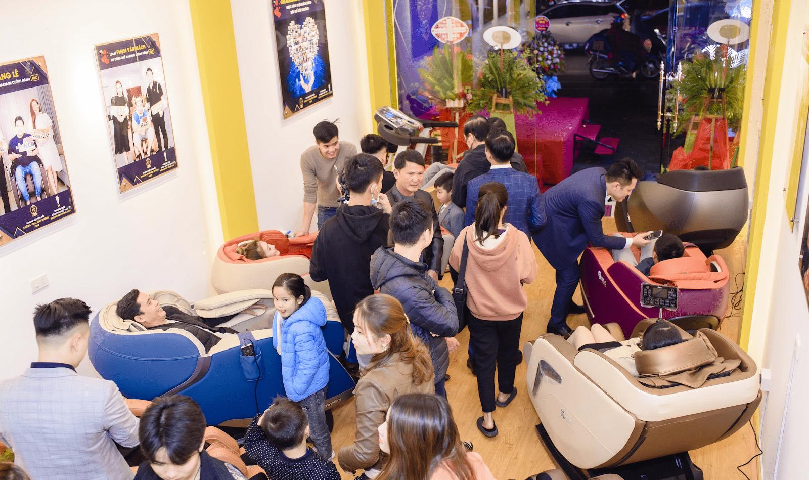 Sự kiện Lễ khai trương showroom mới Ghế Massage Chính Hãng KLC tại Vinh