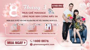 2 ghe massage KLC thay loi yeu thuong den nhung nguoi phu nu ban yeu Ghế massage KLC