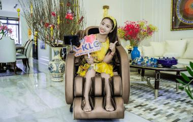 Diễn viên, MC Vân Hugo chọn ghế massage KLC KY222 cho cả năm khỏe mạnh