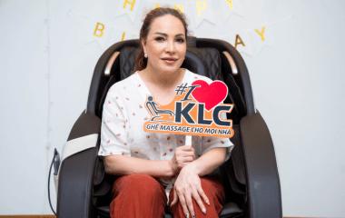Ca sĩ Thanh Hà đã dùng ghế massage KLC KY3388 và hoàn toàn bị thuyết phục