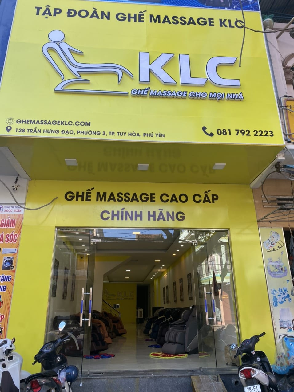 ghế massage chính hãng klc phú yên