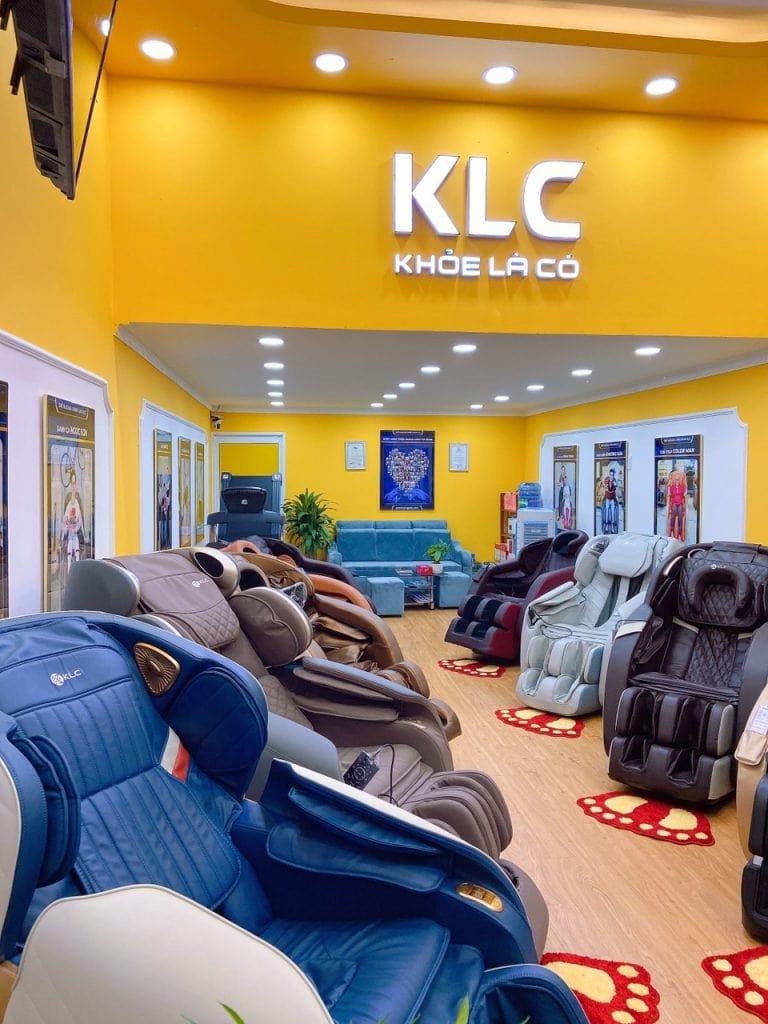ghế massage chính hãng klc vĩnh long