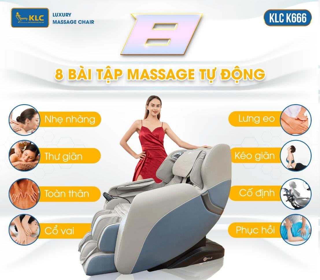 ghế massage klc k666