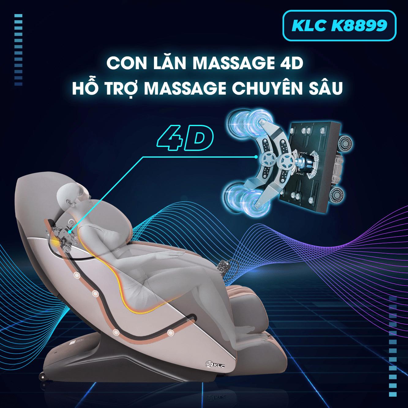 Công dụng của con lăn ghế massage